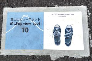 富士山ビュースポットのサイン