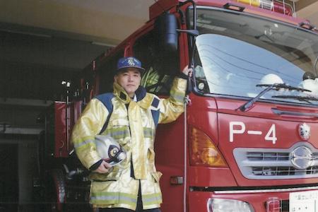 富士市消防本部に勤務していた頃の小山さん