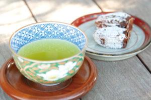 お茶と干し柿